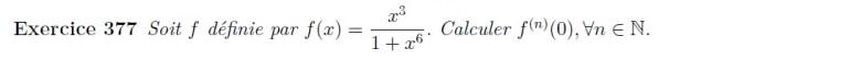 Calcul de dérivée n-ième