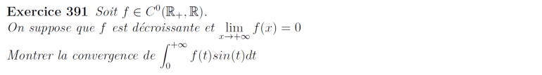 Convergence d'intégrale
