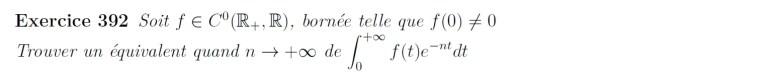 Equivalent d'intégrale