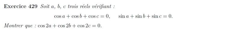 Exercice trigonométrie