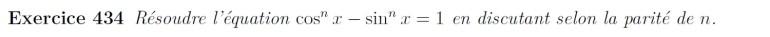 Equation trigonométrie