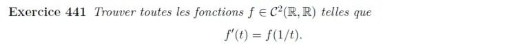 Equation différentielle à transformer