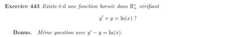 Equation différentielle propriété