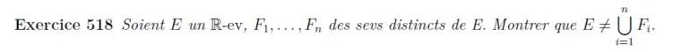 Union d'espaces vectoriels
