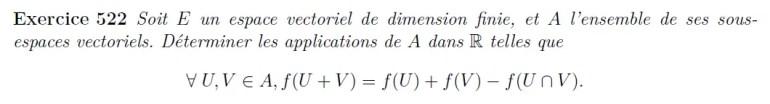 Equation fonctionnelle dans un espace vectoriel