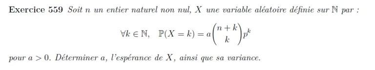 Variable aléatoire et coefficient binomial
