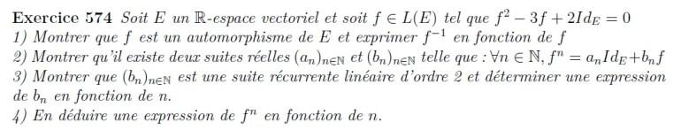 Endomorphisme défini pour un polynôme annulateur