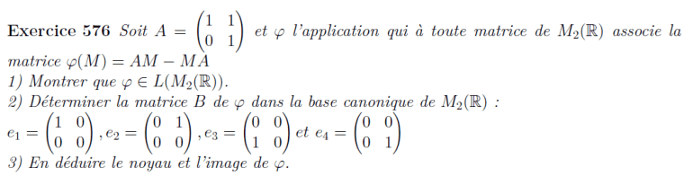 Application de matrices