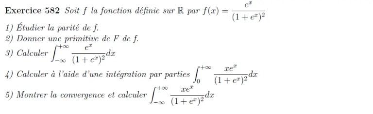 Etude d'intégrales