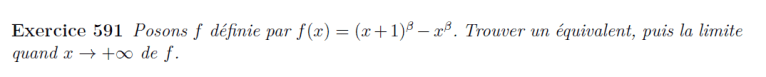 Equivalent et limite de fonctions