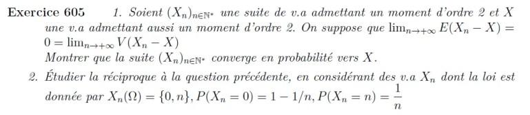 Convergence en probabilité