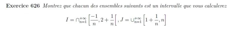 Démontrer que des ensembles sont des intervalles