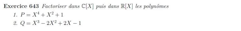 Factorisation de polynômes
