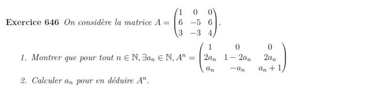Puissance de matrices à calculer