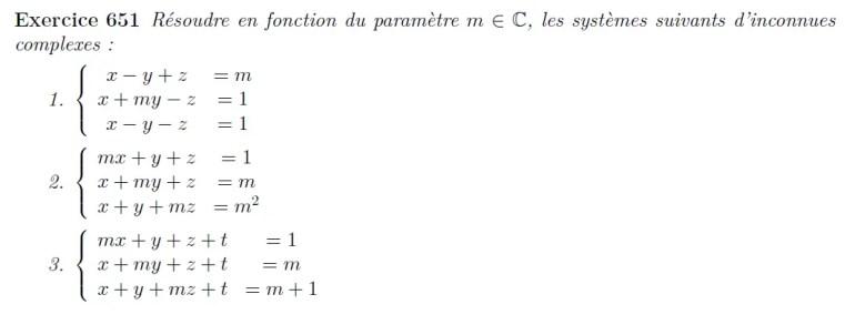 Système linéaire à paramètres