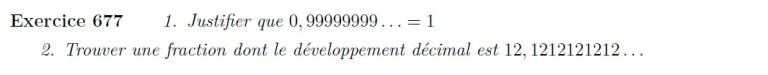 Série développement décimal