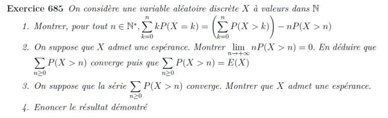Réécriture de l'espérance d'une variable aléatoire