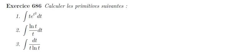Calcul de primitives
