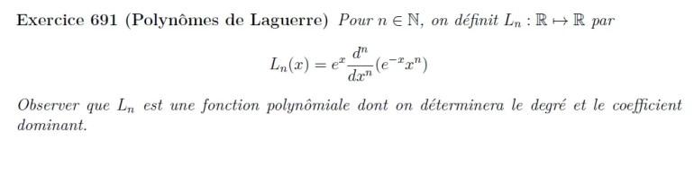 Polynômes de Laguerre