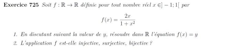 Etude de fonction surjectivité, injectivité