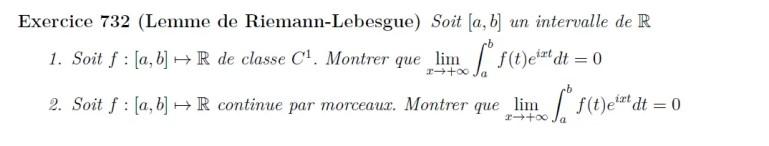 Lemme de Riemann-Lebesgue