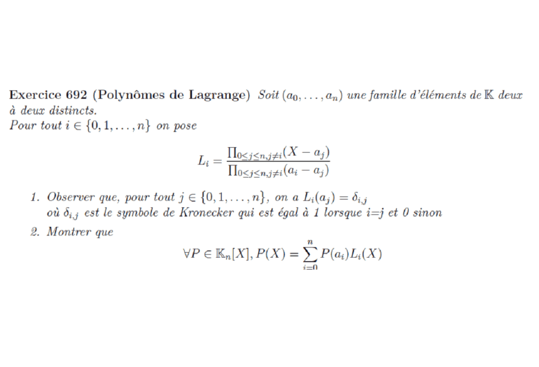 Polynômes de Lagrange