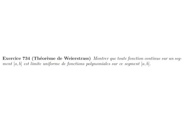 théorème d'approximation de weierstrass