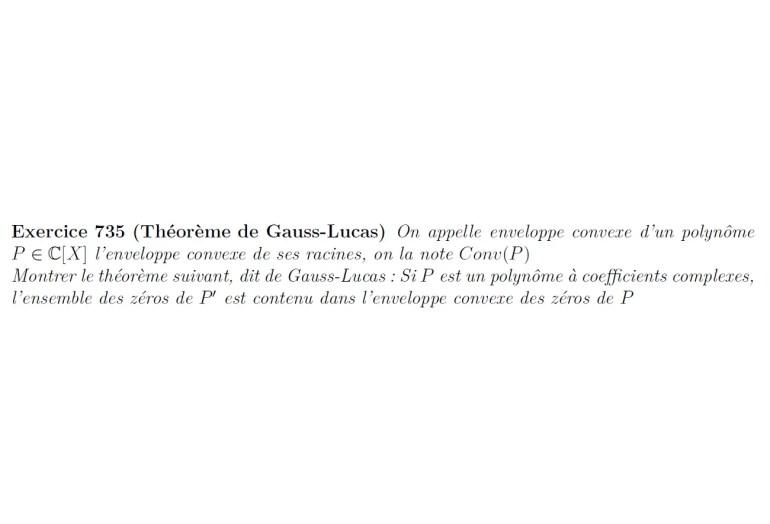 théorème de Gauss-Lucas