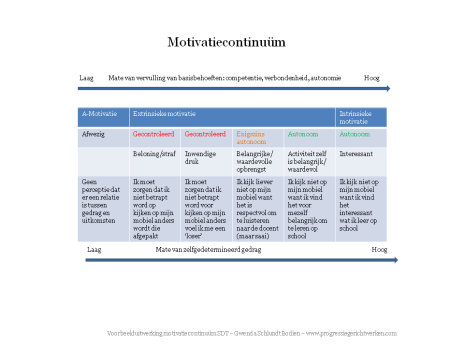 motivatiecontinuum