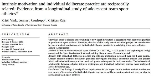 Instrinsieke motivatie en deliberate practice versterken elkaar