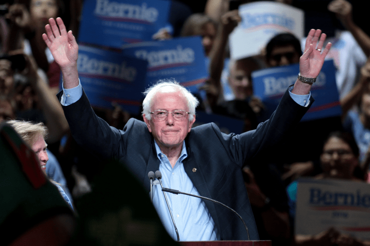 Bernie Sanders at a democratic town meeting in Phoenix, Arizona, July 2015
