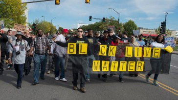 Black Lives Matter protest against St. Paul police brutality