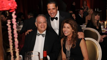 Stephen Bittel (left) with Leslie Miller and Alberto Carvalho at the For the Love of Learning Gala.