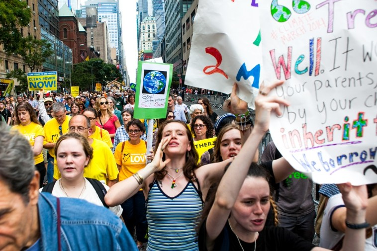 People's Climate Change march in New York on Sept. 21, 2014.