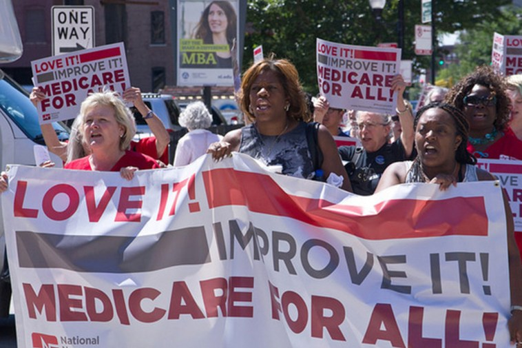 March in support of Medicare for All.
