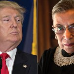 Image of Trump and Ginsburg