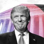Trump in front of Supreme Court