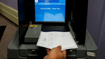 Image of voting machine.
