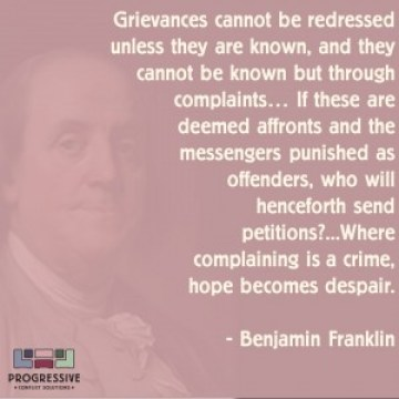 Franklin on Complaints