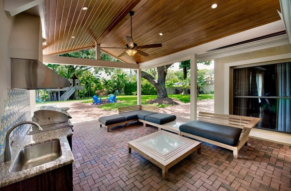 outdoor kitchen covered patio Outdoor Kitchen Remodel Fort Myers FL | Progressive Design