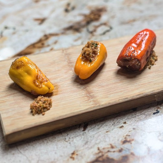 Lamb Italian Sausage Stuffed Peppers with Dates