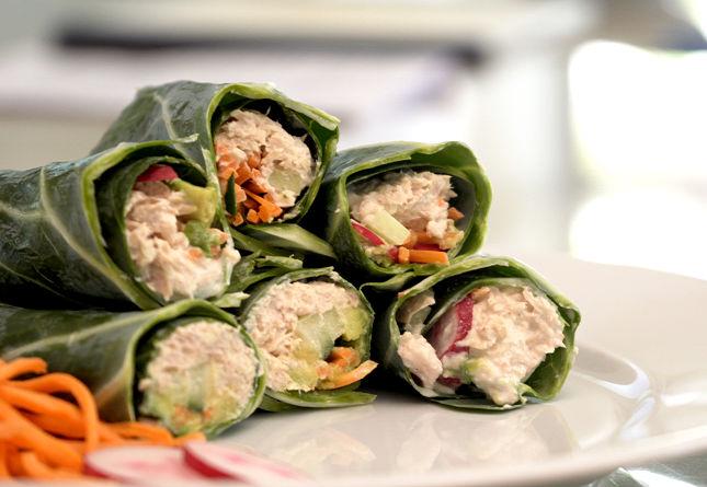 Primal + Keto Cooking Made Easy: Collard Green Tuna Wraps