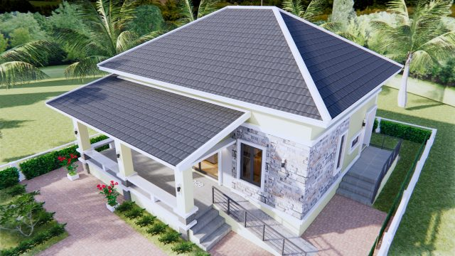 3 Bedroom House Plans 10x10 Meter 33x33 Feet 7