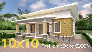 Home Design Plans 10x10 Meter 33x33 Feet