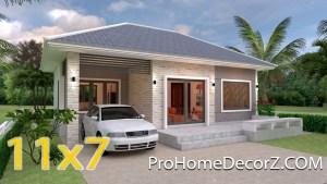 House Floor Plans 11x7 Meter 36x23 Feet 3 Beds