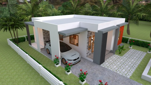 House Layout 10x11 Meter 33x36 Feet 3 Beds 5