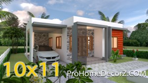 House Layout 10x11 Meter 33x36 Feet 3 Beds