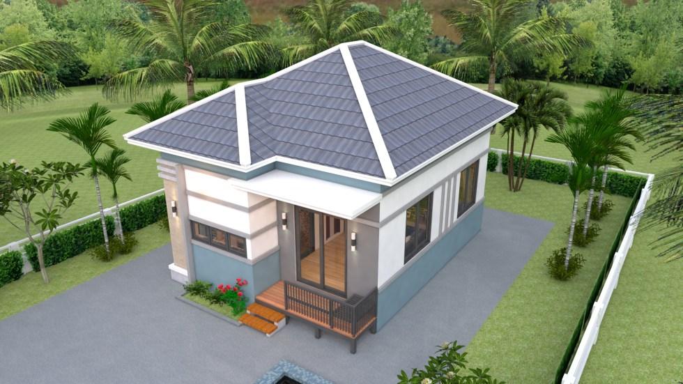 Modern Tiny House 6x8 Meter 20x26 Feet Hip Roof 1