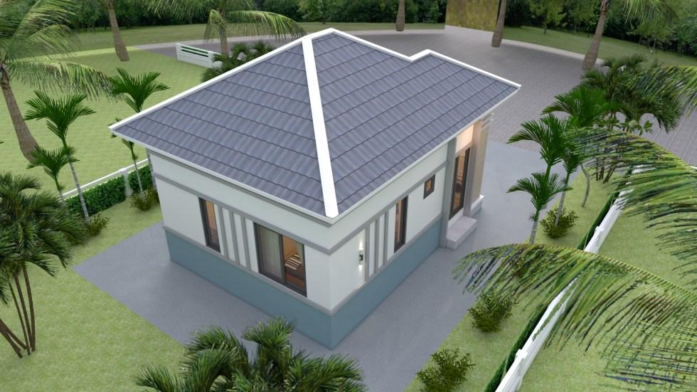 Modern Tiny House 6x8 Meter 20x26 Feet Hip Roof 3