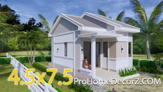 Nice Small Houses 4.5x7.5 with Gable roof